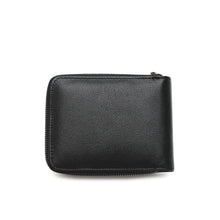 Load image into Gallery viewer, WILD CHANNEL GENUINE LEATHER RFID ZIPPER SHORT WALLET NW 015-7 BLACK