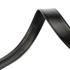 PLAYBOY 40MM GENUINE LEATHER AUTO BELT PAB 309-1 BLACK