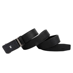 PLAYBOY 35MM AUTOMATIC BELT PAB 332-2 BLACK