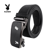 Load image into Gallery viewer, PLAYBOY 35MM AUTOMATIC BELT PAB 332-3 BLACK