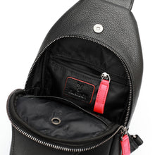 Load image into Gallery viewer, PLAYBOY GENUINE LEATHER CHEST BAG PKF 2624 BLACK
