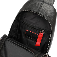 Load image into Gallery viewer, PLAYBOY GENUINE LEATHER CHEST BAG PKF 2900 BLACK