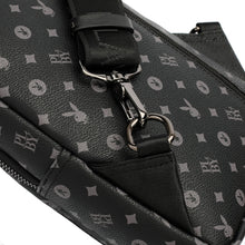 Load image into Gallery viewer, PLAYBOY MONOGRAM CHEST BAG PLC 920-1 BLACK