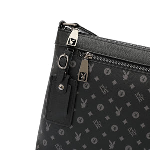 PLAYBOY MONOGRAM SLING BAG PLE 208-1 BLACK