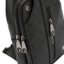 Load image into Gallery viewer, PLAYBOY MONOGRAM CHEST BAG PLG 9002-2 BLACK