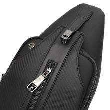 Load image into Gallery viewer, PLAYBOY CARBON FIBER CHEST BAG PLG 9002-3 BLACK