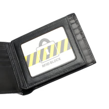 Load image into Gallery viewer, PLAYBOY GENUINE LEATHER RFID BI-FOLD WALLET PW 230-2 BLACK