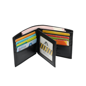 PLAYBOY GENUINE LEATHER RFID BI-FOLD WALLET PW 230-2 BLACK
