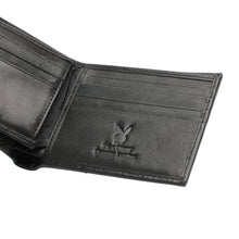 Load image into Gallery viewer, PLAYBOY MONOGRAM RFID BI-FOLD WALLET PW 234-4 BLACK