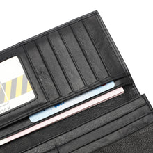 Load image into Gallery viewer, PLAYBOY MONOGRAM RFID LONG WALLET PW 235-1 BLACK