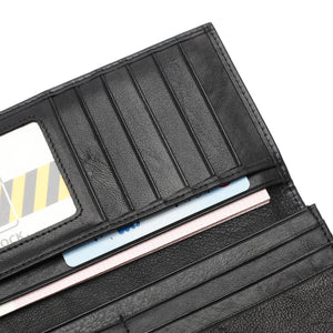 PLAYBOY MONOGRAM RFID LONG WALLET PW 235-1 BLACK