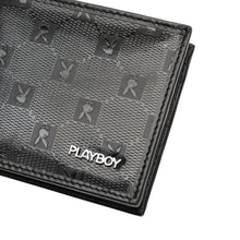 Load image into Gallery viewer, PLAYBOY MONOGRAM RFID BI-FOLD WALLET PW 235-3 BLACK