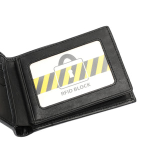 PLAYBOY MONOGRAM RFID BI-FOLD WALLET PW 235-3 BLACK