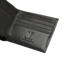 Load image into Gallery viewer, PLAYBOY MONOGRAM RFID BI-FOLD WALLET PW 235-4 BLACK
