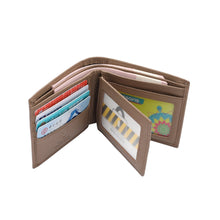 Load image into Gallery viewer, PLAYBOY GENUINE LEATHER RFID BI-FOLD WALLET PW 236-2 BROWN