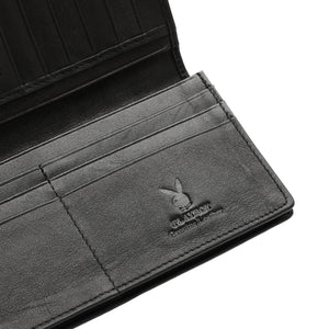 PLAYBOY GENUINE LEATHER LONG WALLET PW 247-1 BLACK