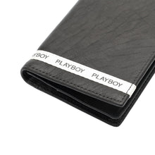 Load image into Gallery viewer, PLAYBOY GENUINE LEATHER LONG WALLET PW 247-1 BLACK