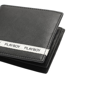 PLAYBOY GENUINE LEATHER BI-FOLD WALLET PW 247-2 BLACK