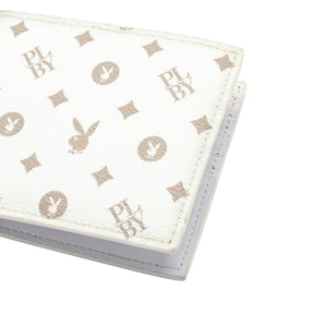PLAYBOY MONOGRAM RFID BI-FOLD WALLET PW 257-3 WHITE