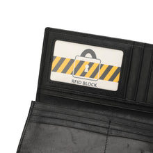 Load image into Gallery viewer, PLAYBOY LONG GENUINE LEATHER RFID LONG WALLET PW 245-1 BLACK