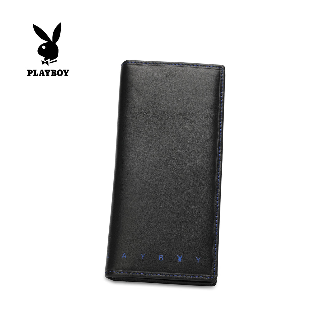 PLAYBOY LONG GENUINE LEATHER RFID LONG WALLET PW 245-1 BLACK