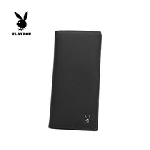 Load image into Gallery viewer, PLAYBOY GENUINE LEATHER RFID LONG WALLET PW 262-1 BLACK