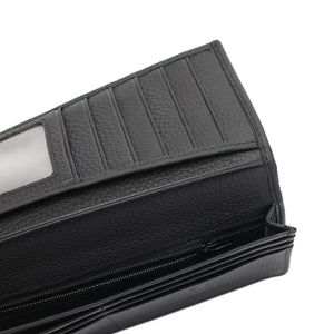 PLAYBOY GENUINE LEATHER RFID LONG WALLET PW 262-1 BLACK