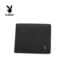 Load image into Gallery viewer, PLAYBOY GENUINE LEATHER RFID SHORT WALLET PW 262-5 BLACK