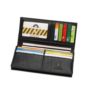 PLAYBOY RFID BLOCKING LONG WALLET PW 263-1 BLACK