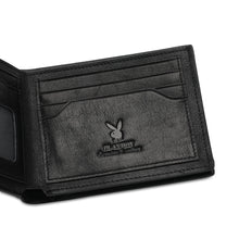 Load image into Gallery viewer, PLAYBOY RFID BLOCKING SHORT WALLET PW 263-5 BLACK
