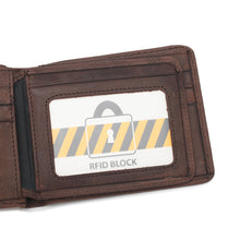 Load image into Gallery viewer, PLAYBOY GENUINE LEATHER RFID SHORT WALLET PW 267-4 BROWN