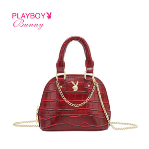 PLAYBOY BUNNY LADIES TOP HANDLE MINI CHAIN SLING BAG DALLAS