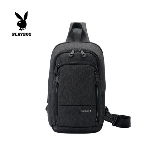 PLAYBOY WATER RESISTANCE CHEST BAG PKX 8162 BLACK