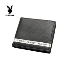 Load image into Gallery viewer, PLAYBOY GENUINE LEATHER BI-FOLD WALLET PW 247-2 BLACK