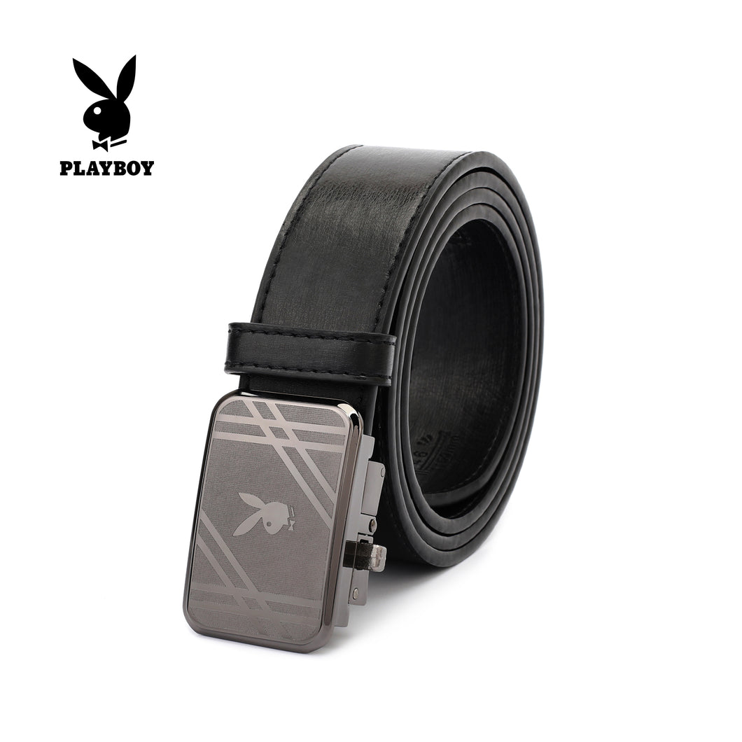 PLAYBOY 40MM LEATHER AUTO BELT PAB 311-3 BLACK