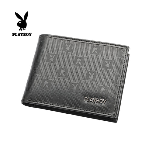 PLAYBOY MONOGRAM RFID BI-FOLD WALLET PW 234-5 BLACK