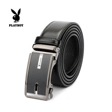 Load image into Gallery viewer, PLAYBOY 40MM GENUINE LEATHER AUTO BELT PAB 309-1 BLACK