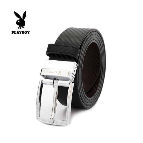 PLAYBOY 40MM GENUINE LEATHER REVERSIBLE BELT PAB 304-3 BLACK