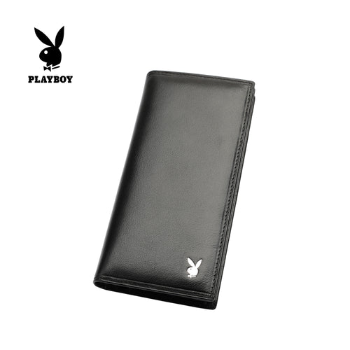 PLAYBOY GENUINE LEATHER RFID LONG WALLET PW 230-1 BLACK