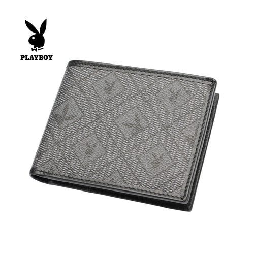 PLAYBOY MONOGRAM RFID BI-FOLD WALLET PW 241-3 BLACK