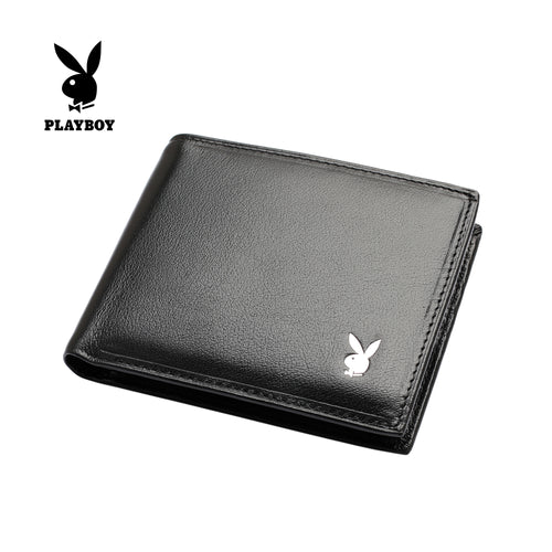 PLAYBOY GENUINE LEATHER RFID BI-FOLD WALLET PW 230-3 BLACK
