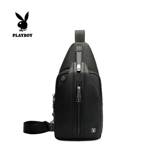 PLAYBOY CARBON FIBER CHEST BAG PLG 9002-3 BLACK