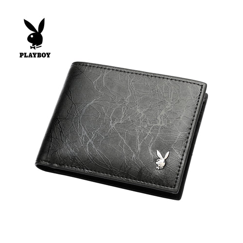 PLAYBOY RFID BI-FOLD WALLET PW 255-3 BLACK