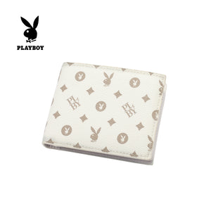 PLAYBOY MONOGRAM RFID BI-FOLD WALLET PW 257-2 WHITE
