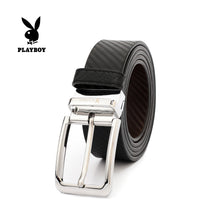 Load image into Gallery viewer, PLAYBOY 40MM GENUINE LEATHER REVERSIBLE BELT PAB 304-2 BLACK