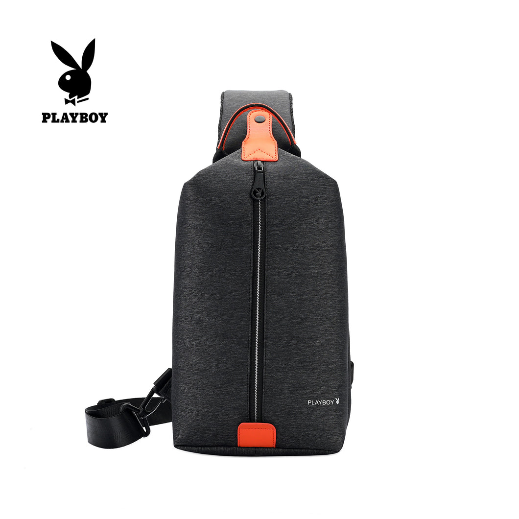 PLAYBOY WATER RESISTANCE CHEST BAG PKX 120 BLACK