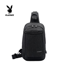 Load image into Gallery viewer, PLAYBOY WATER RESISTANCE CHEST BAG PKX 8160 BLACK
