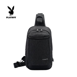 PLAYBOY WATER RESISTANCE CHEST BAG PKX 8160 BLACK
