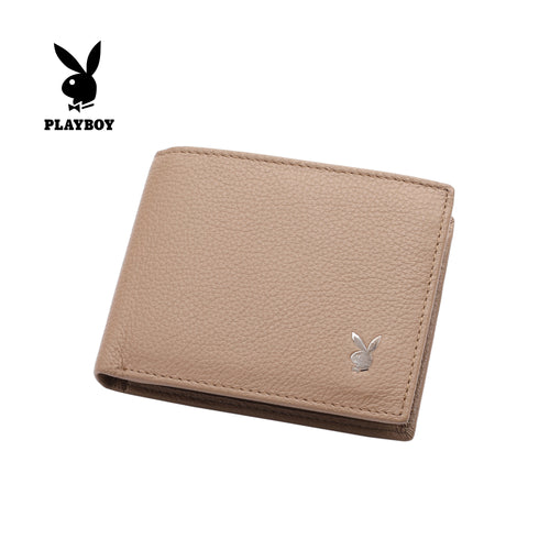 PLAYBOY GENUINE LEATHER RFID BI-FOLD WALLET PW 236-3 BROWN
