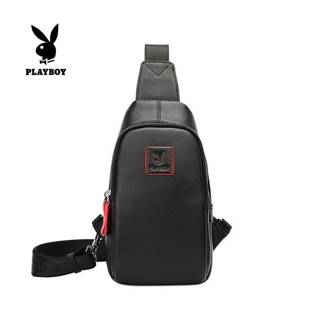 PLAYBOY GENUINE LEATHER CHEST BAG PKF 2900 BLACK
